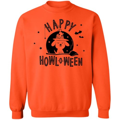 Happy Howl-O-Ween Orange Sweatshirt