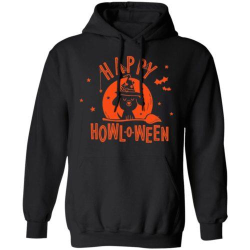 Happy Howl-O-Ween Black Pullover Hoodie