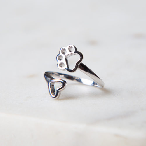 "Limited Edition ""A Shelter Dog Promise"" Sterling Silver Ring"