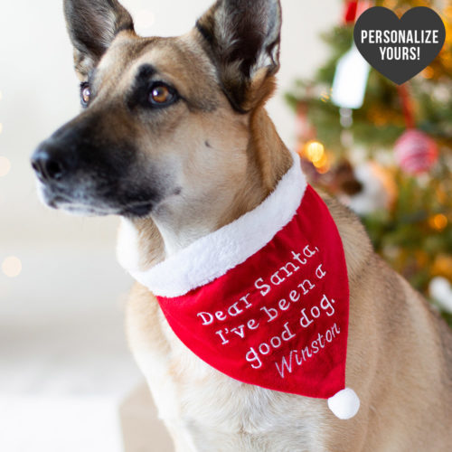 Dear Santa, I've Been A Good Dog Customizable Bandana
