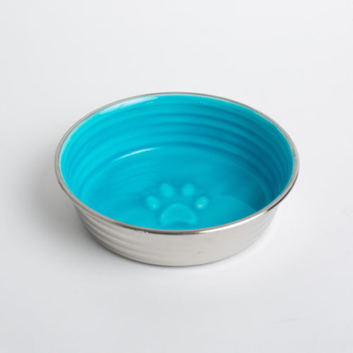 Pretty Paw Blue Stainless Steel Bowl, Medium