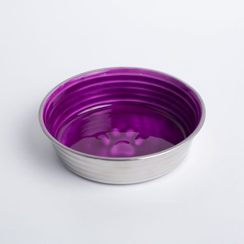 Pretty Paw Purple Stainless Steel Bowl, Medium