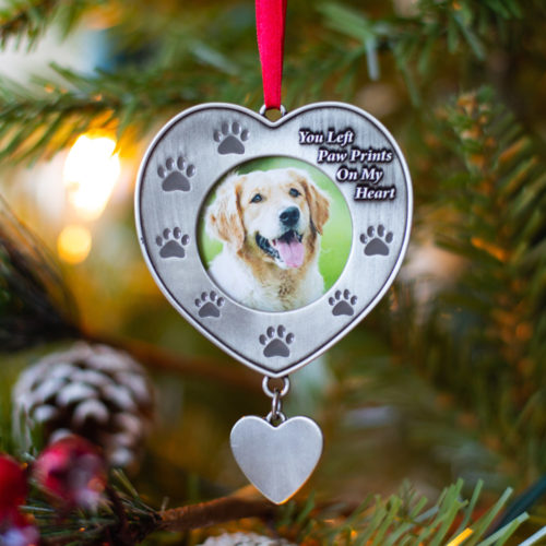 You Left Paw Prints On My Heart Ornament
