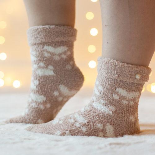 Warm 'n Fuzzy Paws Tan Socks