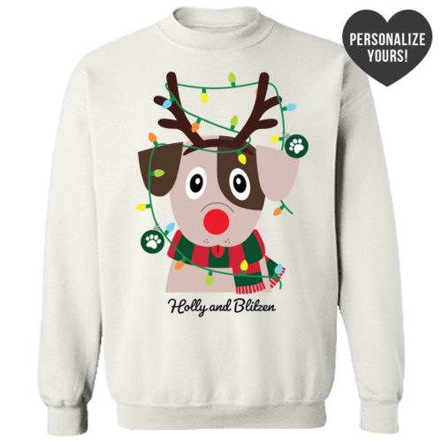 My Favorite Christmas Pup Personalized White Sweatshirt