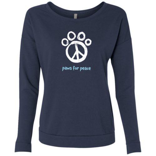 Paws For Peace Indigo Scoop Neck Sweatshirt