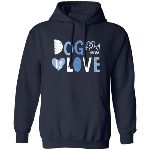 Dog Is Love Navy Pullover Hoodie