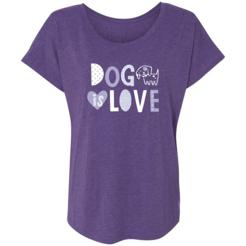 Dog Is Love Purple Slouchy Tee