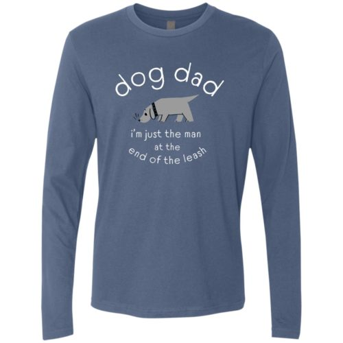 Man At The End Of The Leash Indigo Premium Long Sleeve Tee