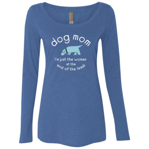 Woman At The End Of The Leash Vintage Royal Scoop Neck Long Sleeve