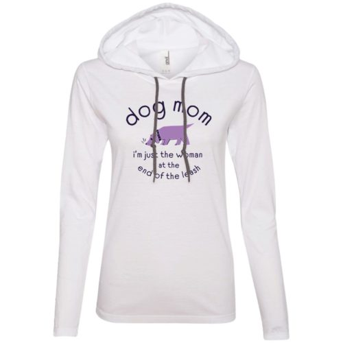 Woman At The End Of The Leash White Fitted T-Shirt Hoodie