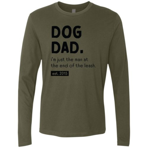 Man At The End Of The Leash Military Green Premium Long Sleeve Tee