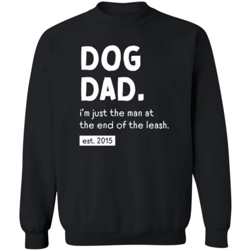 Man At The End Of The Leash Black Sweatshirt