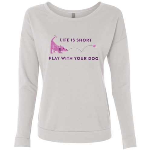 Life Is Short White Scoop Neck Sweatshirt