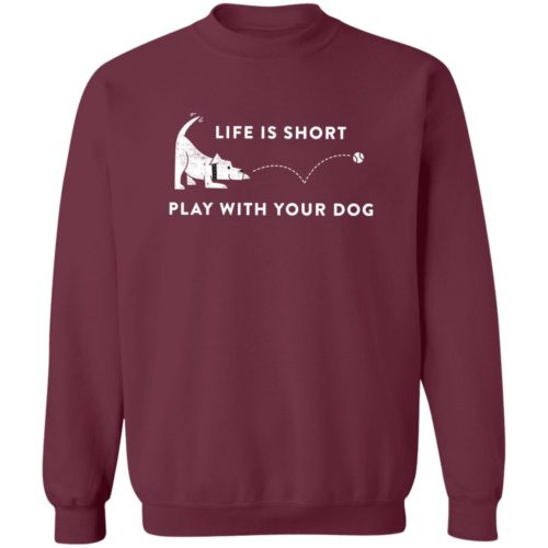 Life Is Short Maroon Sweatshirt