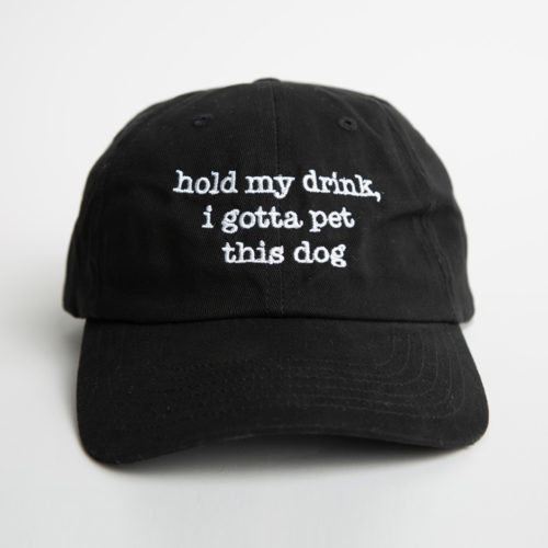 Hold My Drink Dog Mom Hat