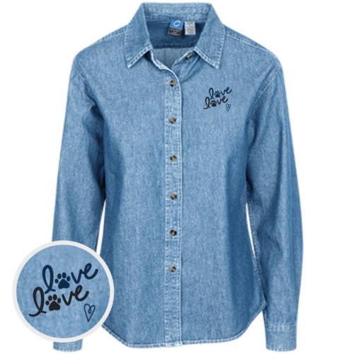 Love Love Classic Women's Light Blue Denim Shirt