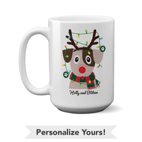 My Favorite Christmas Pup Personalized 15 oz. White Mug
