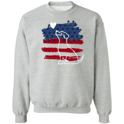 I Love My Patriotic Pup Grey Sweatshirt