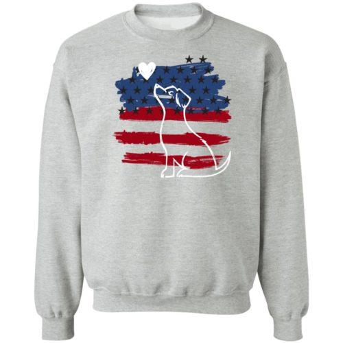 I Love My Patriotic Pup Grey Sweatshirt 🐾  Deal Up To 25% Off!