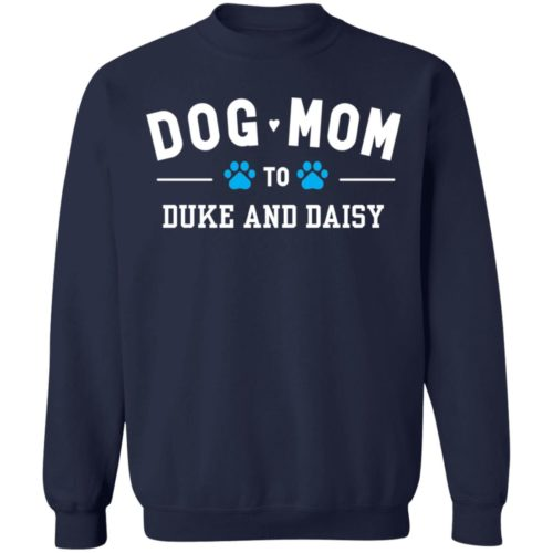 Dog Mom To My Fur Babies Personalized Navy Sweatshirt