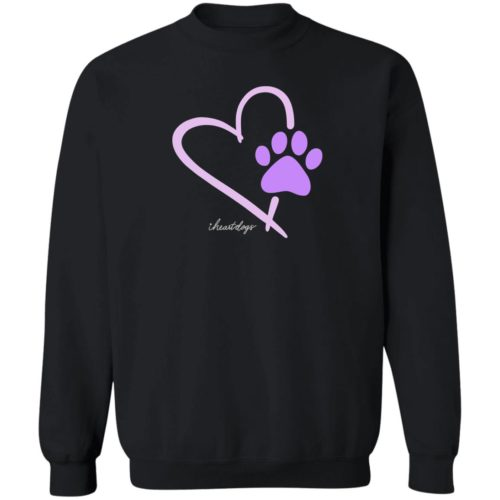 Paw In My Heart Black Sweatshirt 🐾 Deal 30% Off!