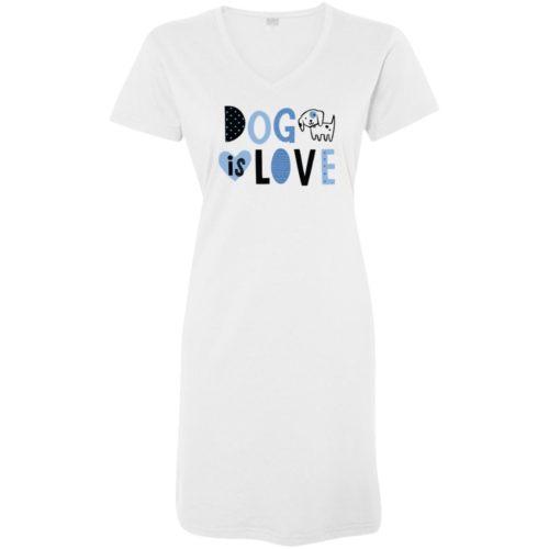 Dog Is Love White Sleepshirt