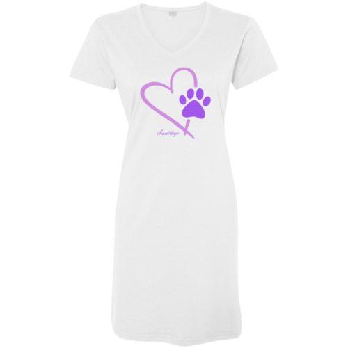 Paw In My Heart White Sleepshirt