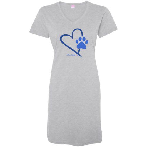 Paw In My Heart Heather Grey Sleepshirt