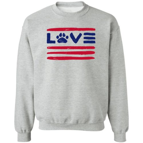 Love Paws And Stripes Grey Sweatshirt