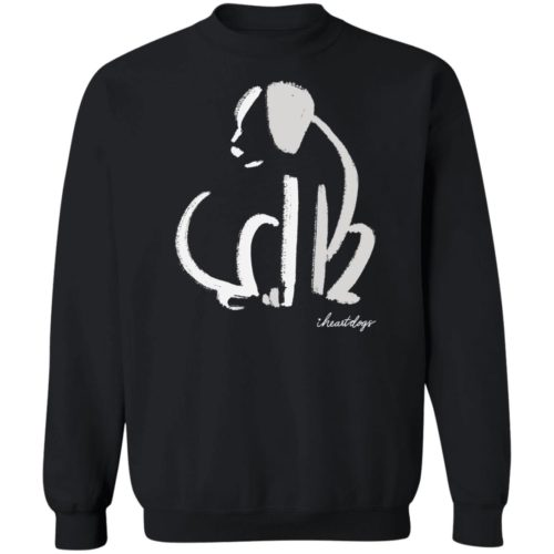 Dog Sketch Black Sweatshirt