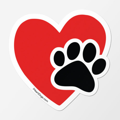 Paws In My Heart Car Magnet