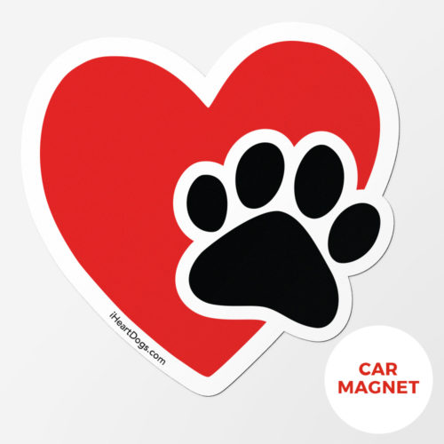 Special Offer! Paws in My Heart Car Magnet