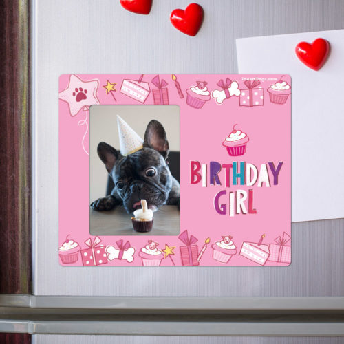 Birthday Girl Picture Frame Magnet