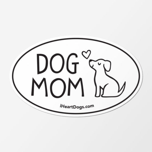 Loved By A Dog Mom Car Magnet