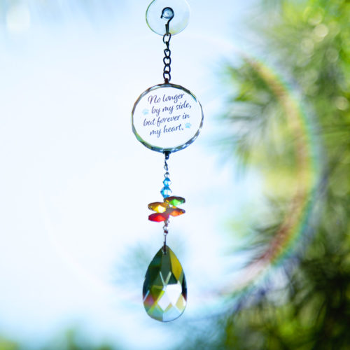 No Longer By My Side Crystal Sun Catcher