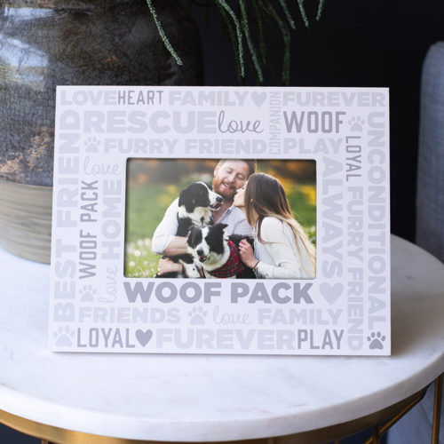 My Family Is My Woof Pack Picture Frame