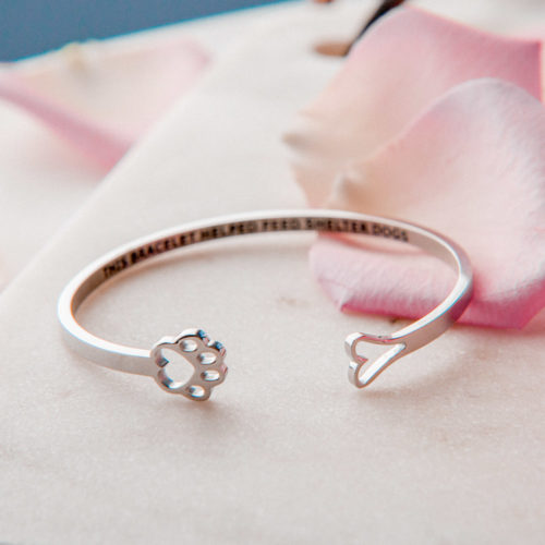 """The Miracle Of Love """"Always By My Heart"""" Bracelet Feeds 30 Shelter Dogs"""