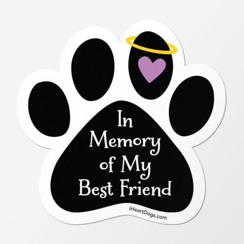Free In Memory Of My Best Friend Car Magnet