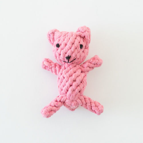 My Little Pink Bear Rope Toy