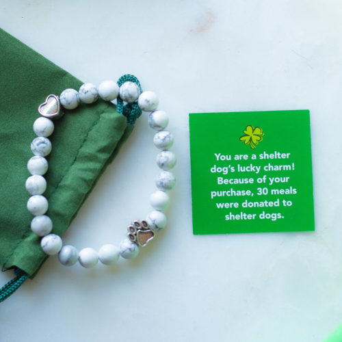 Be A Shelter Dog's Lucky Charm Bracelet Feeds 30 Shelter Dogs