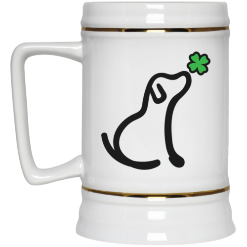 Limited Edition St. Patrick's I Really Love This Lucky Dog 22oz. Beer Stein