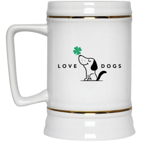 Limited Edition St. Patrick's Love Dogs 22oz. Beer Stein
