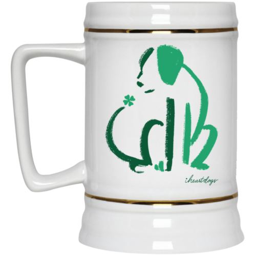 Limited Edition St. Patrick's Dog Sketch 22oz. Beer Stein