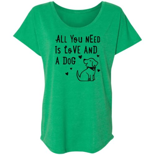 All You Need Is Love Green Slouchy Tee