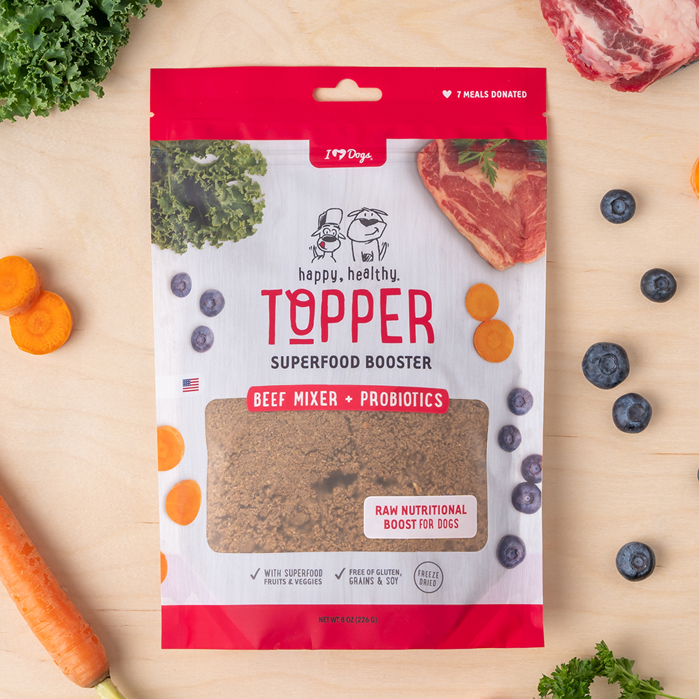 Happy, Healthy™️ Nutrition Boost Beef Food Topper (8 oz and 3 oz Pouch)