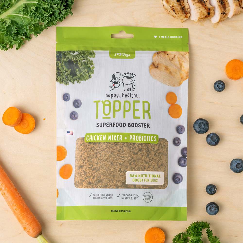 Happy, Healthy™️ Nutrition Boost Chicken Food Topper (8 oz and 3 oz Pouch)
