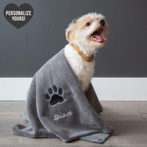 Large Customizable Premium Bath Towel For Dogs
