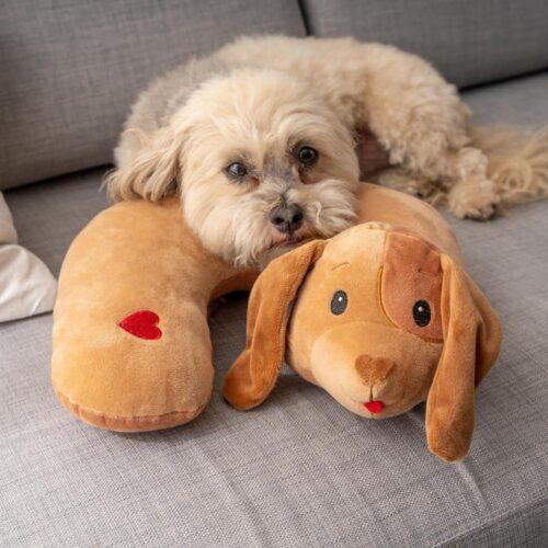 Snuggle Buddy Plush Dog Pillow