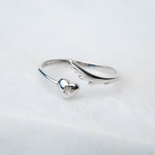 My Angel Has Wings Sterling Silver Memorial Ring